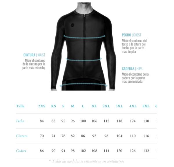 chaqueta de ciclismo
