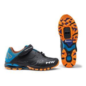 Zapatillas Northwave Spider 2 Negra Azul Naranja