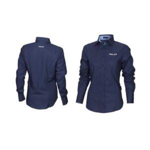 XLC FT-A13 camisa manga larga mujer azul marino