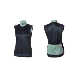 XLC JE-W07 chaleco cortavientos Race mujer azul oscuro/verde/lila