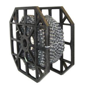 Rollo de 50 metros cadena KMC X10 1/2x11/128 5.88 mm 10V gris