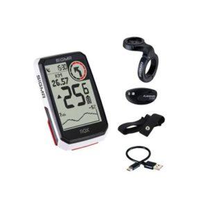 Kit ciclocomputador GPS Sigma Rox 4.0 HR 30 funciones blanco
