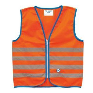 Chaleco seguridad Wowow Fun niño rayas reflect.cierre cremallera naranja talla L (52x54 cm) 10+ años