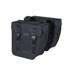 Alforjas Basil Tour XL 35L impermeable poliester negro con reflectantes (35x14x35 cm)