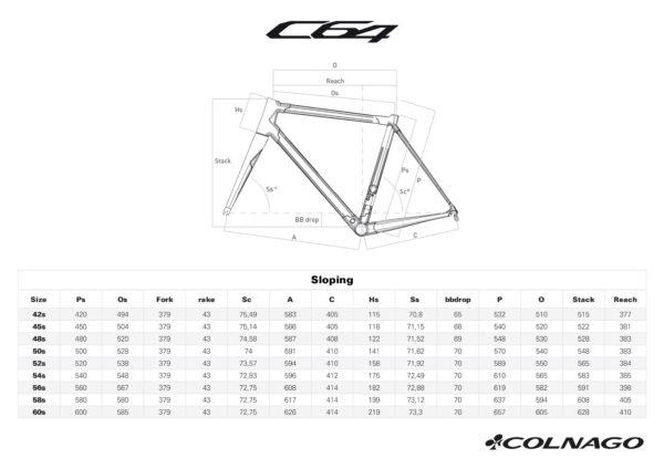 Bicicleta Colnago C64 Disc - Color PJUA tallas